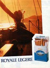 Publicité Advertising 1986  Cigarette ROYALE LEGERE