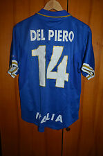 ITALY 1996 EURO HOME FOOTBALL SHIRT JERSEY MAGLIA NIKE #14 DEL PIERO
