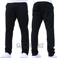 Nuevo Enzo Hombre Corte Slim Elástico Pantalones Chinos Vaqueros Pantalones