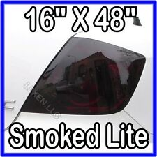"16"" X 48"" DARK SMOKE ORIGINAL PVC FILM TAILLIGHT COVERS SMOKED TINT OVERLAY c"