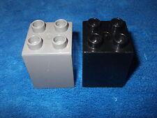 LEGO DUPLO ritterburg de 4777 + 4785 2 x pierre 4er rien Haut Noir Gris