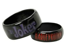 DC Comics THE JOKER & HARLEY QUINN HIS & HERS RING SET Size 7 & 11 Suicide Squad
