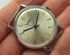 '1970s Old soviet POBEDA ZIM watch Classic silver dial, blued hands *SERVICED*