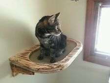 Wall mounted large cat perch w/ fabric center