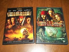 Pirates of the Caribbean- Black Pearl & Dead Man's Chest DVD's