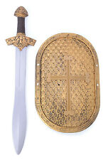 ANCIENT KNIGHT SET SWORD AND SHIELD FANCY DRESS COSTUME ACCESSORY