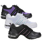 Women girl Modern Jazz Hip Hop Dance Trainers Split Sole Sneakers Athletic Shoes