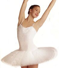 NWOT Body Wrappers Ballet Performance Practice Cami Tutu Costume White Ladies M