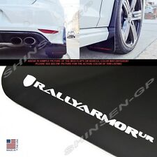 "Rally Armor UR ""Black Mud Flaps with White Color Logo"" for 2015+ VW MKVII Golf R"