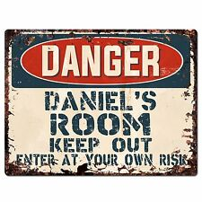 PPD0012 DANGER DANIEL'S ROOM Rustic Chic Sign Home Decor Birthday Gift