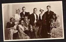 C1920's Photo Card - Group of Nine Actors in Costume