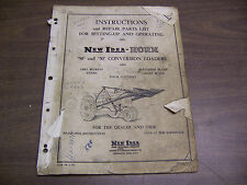 "11951 New Idea Instructions parts list Horn ""50"" and ""50"" conversion loader 1953"