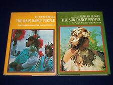 1972-1976 THE SUN DANCE & RAIN DANCE PEOPLE BOOK LOT OF 2 BY R. ERDOES - KD 3538