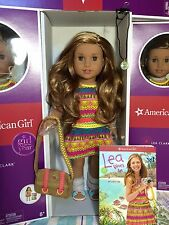 "American Girl LEA 18"" Doll of the Year 2016+Book+ Necklace + Messenger Bag Leah"