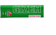 5 BOOKLETS GIZEH EXTRA SLIM CIGARETTE ROLLING PAPERS 66 pappers per booklet