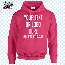 Custom Personalised Men's Printed HOODIE Name Funny Work Stag Do-Your text/logo3
