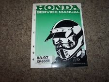 1988 to 1997 Honda XR600R Motorcycle Dirt Bike Shop Service Repair Manual