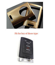 Metallic Painted Gold holder Cover Protector For CADILLAC Remote Key Fob 5Button