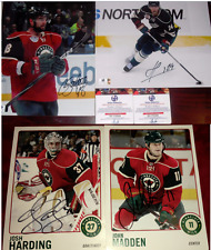 Lot of 4 Minnesota Wild Signed Photos Latendresse Martin Harding Madden