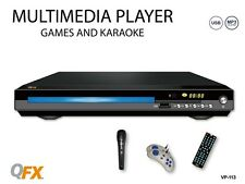 QFX VP-113 DVD Player All Region-Free Multi-Zone (NTSC/PAL) +Karaoke +Games