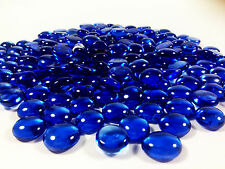 20 POUNDS ROYAL BLUE GLASS MOSAIC PEBBLES, FLAT BOTTOM  MARBLES - SPECIAL