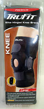 "Tru-Fit 483062 Premium Elite HINGED KNEE BRACE, Large 15-17"", Left or Right, NIB"