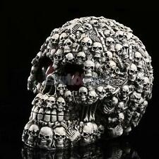 LED Homosapiens Skull Statue Figurine Human Skeleton Head Halloween Decor #1