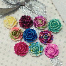 10pcs Resin Flower flatback Appliques For phone/wedding/craft0