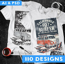 VECTORS CLIPART-T-SHIRT SCREEN PRINTING DESIGNS -AI & PSD