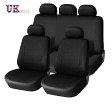 BLACK LIGHT FABRIC FULL CAR SEAT COVERS 9 PCS SET FOR NISSAN NAVARA 01-05