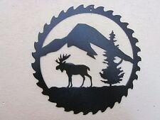 MOOSE MOUNTAINS  SAWBLADE ART STEEL TEXTURED BLACK POWDER COAT FINISH