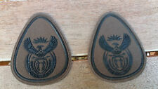 SANDF- South African Army Nutria Warrant Officer 1 Class  rank badges X2