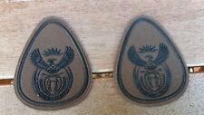 SANDF- South African Army Nutria Warrant Officer 1 Class  rank badges X2