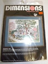 Dimensions FAIRFAX INN & SPRING INN Stamped Cross Stitch Kits Lot of 2 NIP VTG