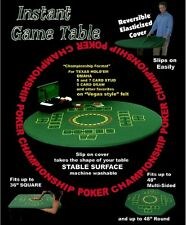 Felt Poker Tablecloth Cover Instant Game Blackjack Texas Holdem Fitted 36-48