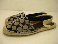 womens 11 B M Coach Rayanne Signature Black Espadrille Ballet Flats Shoes Sandal