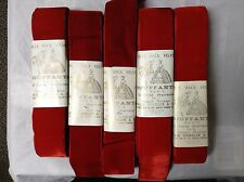 """10 yards Red 2"""" Bouffante Velvet Ribbon Fabric Made in France 100% Rayon"""