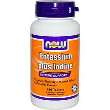 Potassio plus IODIO - 180 Compresse da Now Foods-minerale essenziale supplemento