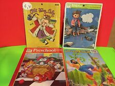4 Vintage Tray Puzzles Old King Cole Michael At The Fish Pond Plus 2 Collectible