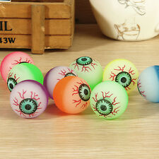 10 Pcs 32mm Funny Eyeball Candy Colors High Bounce Ball for Toy Machine DevilCNU