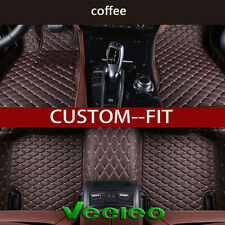6 Colors Leather Car Floor Mats for BMW M4 F82 F83 2014-2016 Waterproof Carpets