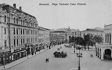 B76660 Romania Bucuresti Piata teatrului cu Calea Victoriei  real photo