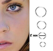 Finto piercing naso,arcade,cartilagine,traguis,labbro,setto ,anelli