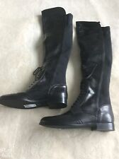 NEW Alice Temperley Black Leather Over Knee Cromwell Boots Size 5 RRP £185