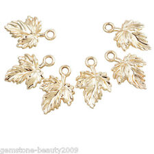 GB 20PCs Fashion Gold Plated Maple Leaf Pendant Necklace Jewerly 17x11mm