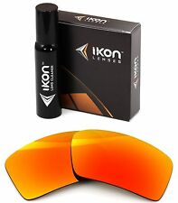 Polarized IKON Iridium Replacement Lenses For Oakley Eyepatch 2 Fire Mirror