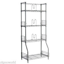 Home Kitchen Garage Wire Shelving 4-Tier Shelf Storage Rack Unit Shelves Metal