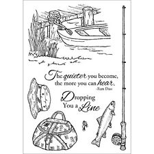 "Inky Antics Clear Stamp Set 6""X4""-Fishing Favorites"