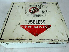 Vintage Bowes Seal Fast tubeless tire valves empty metal case