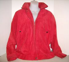 Vintage Punk - Jacobson 1980's Red Soft Suede Leather Jacket Size Small.